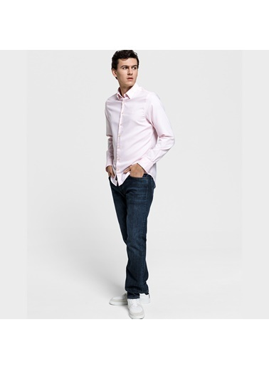 Gant Erkek Pembe Slim Fit Tech Prep Oxford Gömlek Pembe
